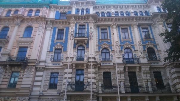 Edificio Art Decó en Riga (Letonia)