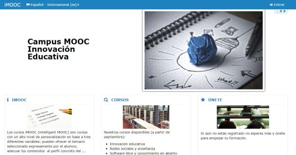 Campus Mooc Innovación Educativa IMooc de la Universidad Politécnica de Madrid